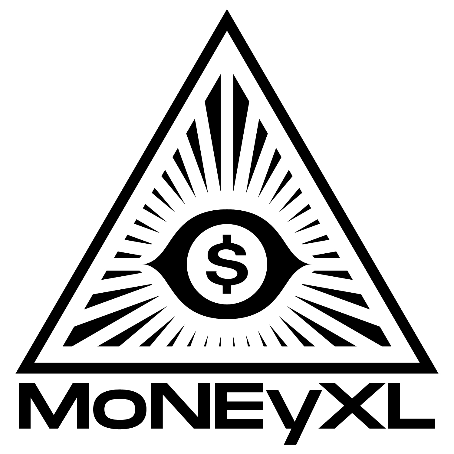 moneyxl - MoneyXL was a project that attempted to break boundaries and bridge sounds together. The logo is a representation of how the entire rap game is rigged and the bottom line is dollar signs.