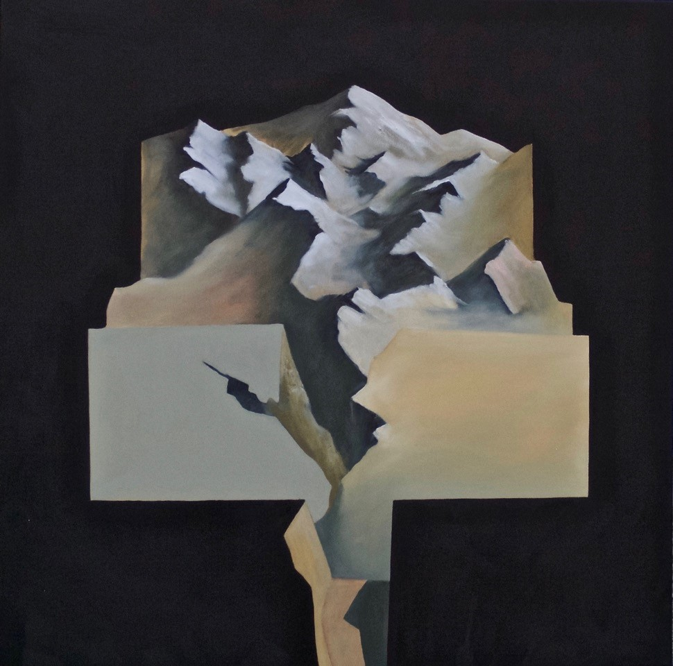 Glacial Fracture I  Oil on canvas 760 x 760mm