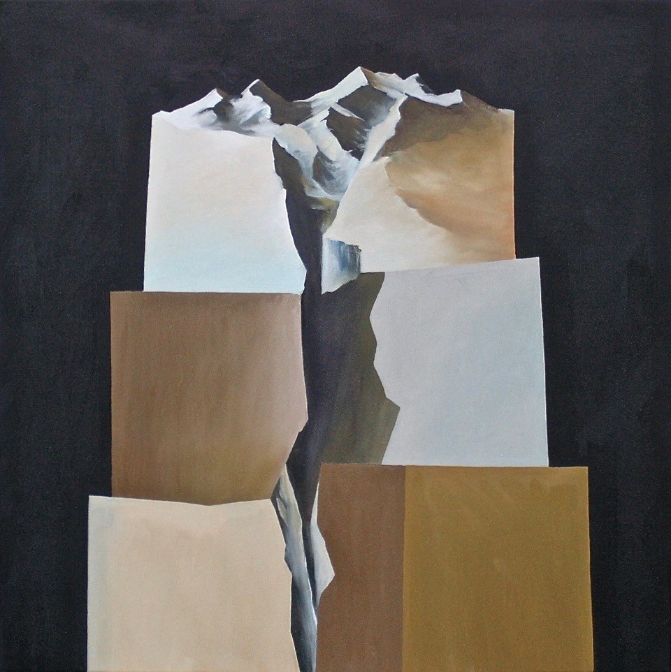 Glacial Fracture II  Oil on canvas 760 x 760mm