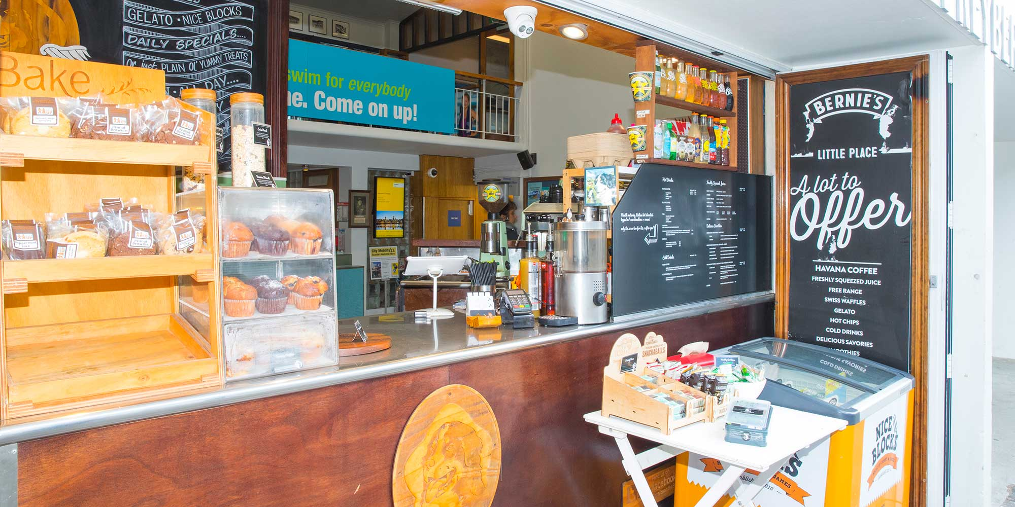 Cafe at the Freyberg Pool & Fitness Centre.