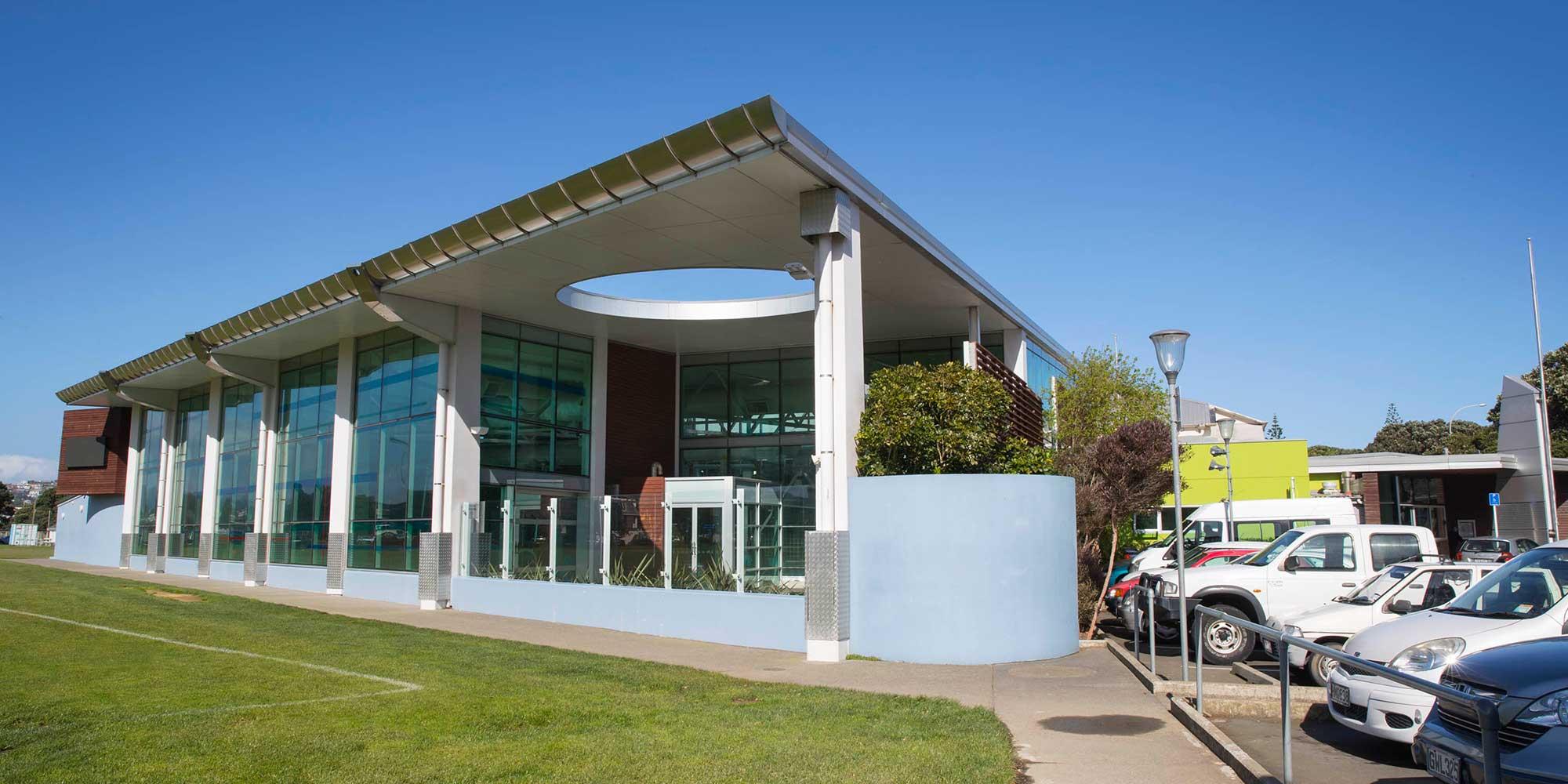 External view of Wellington Regional Aquatic Centre (WRAC).