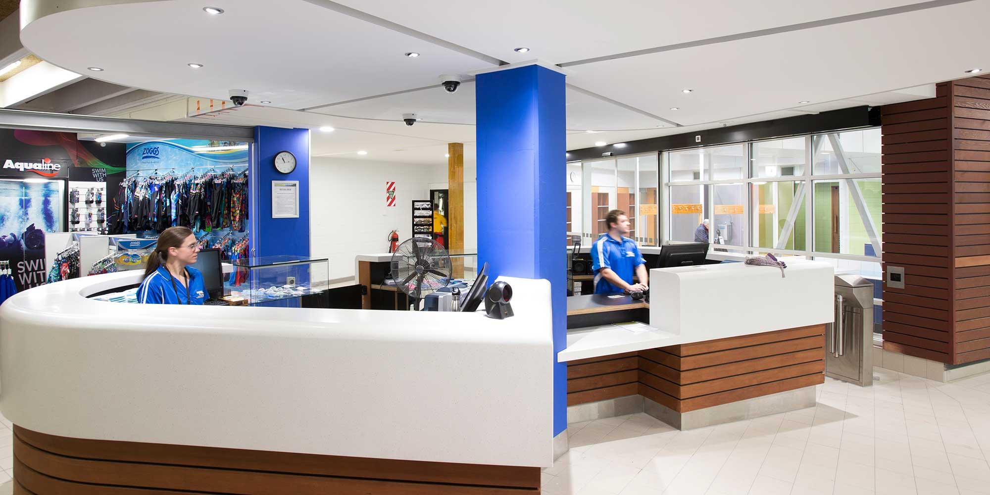 Reception at Wellington Regional Aquatic Centre (WRAC).