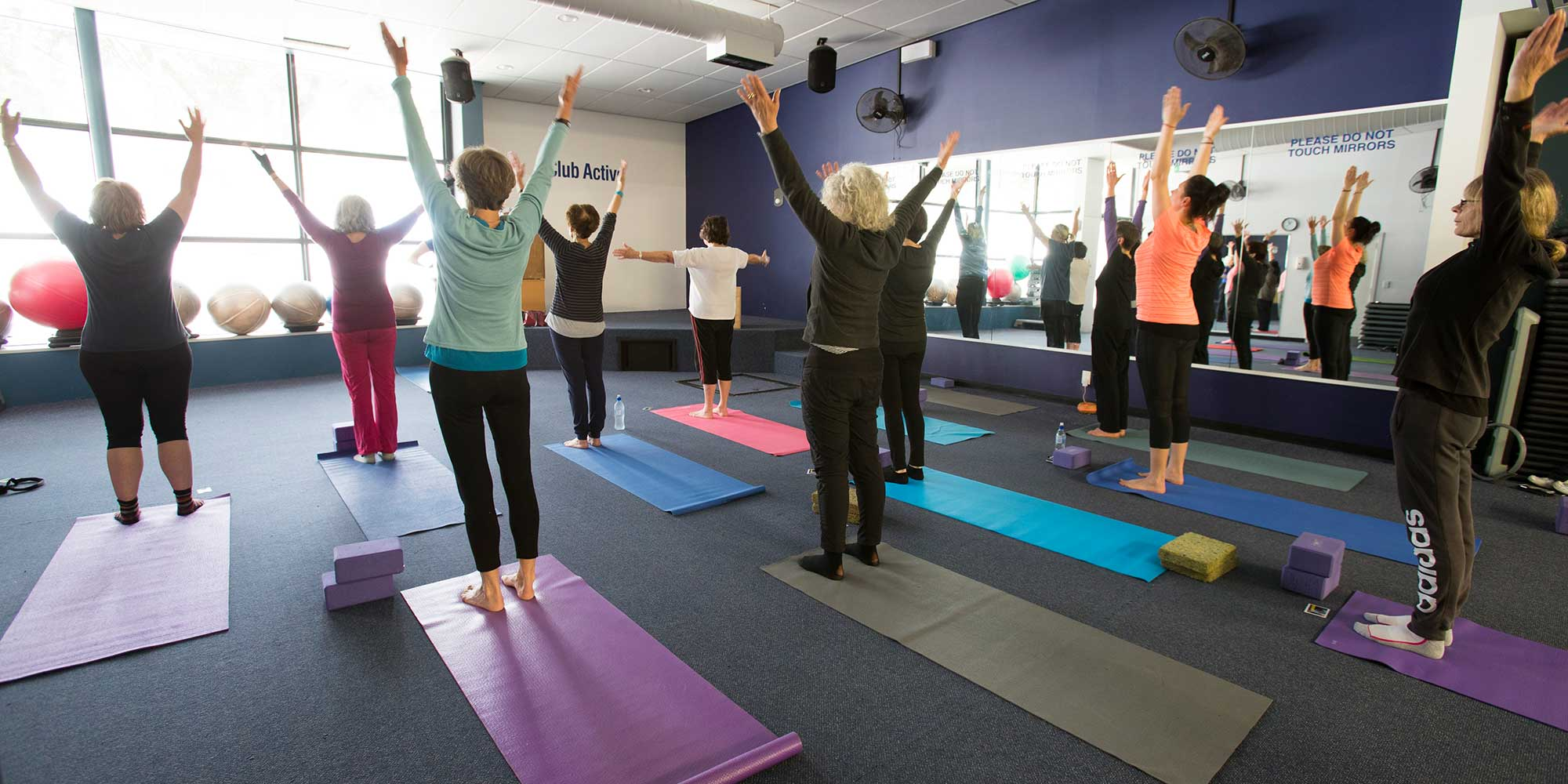 Yoga class at WRAC.