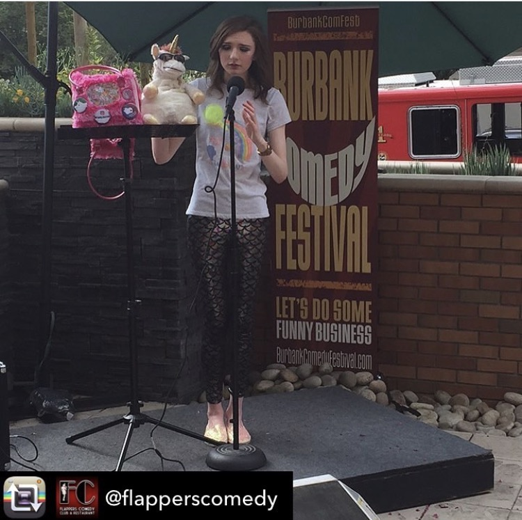 8/15/17  - Our set at the Burbank Comedy Festival happy hour show was so hot the Burbank Fire Department showed up!