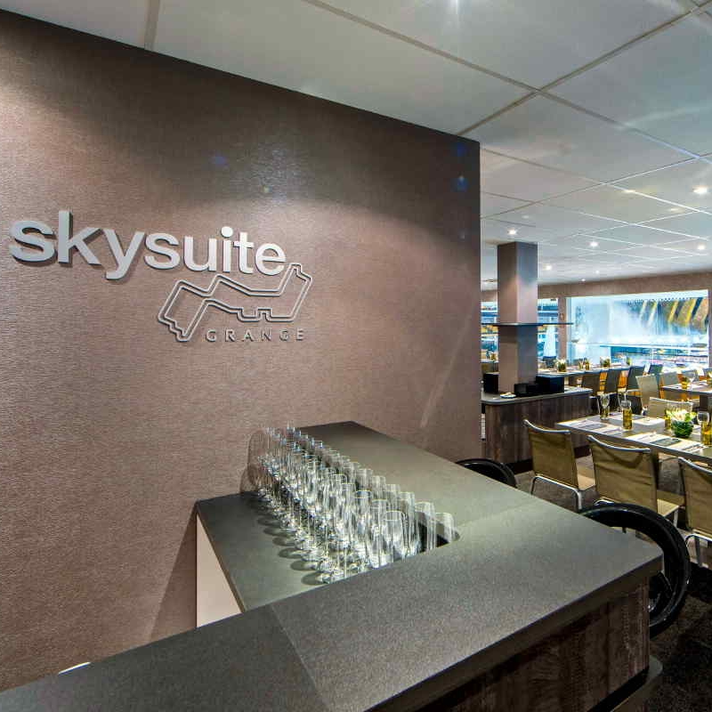 Sky Suite - Starting at £4110 Per Person- Private spacious suite with dining tables & bar areas (air-conditioned)- Large terrace with outside shaded seating- Gourmet a la carte menu throughout the day- Complimentary bar throughout the day including champagne, wines, beers & soft drinks- Q&A session with drivers- Incredible trackside views & multi-screen TV's- Access to evening concerts