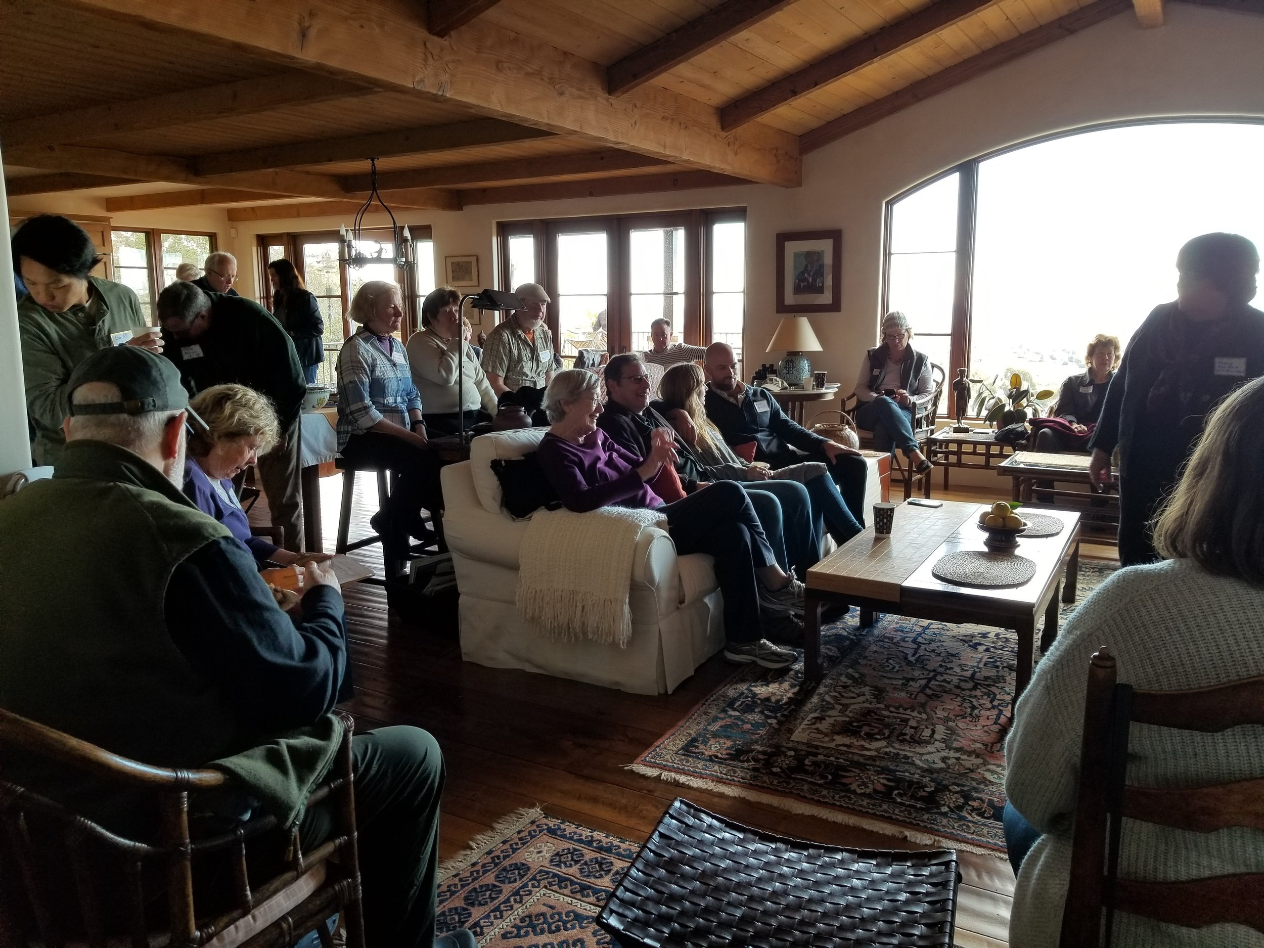 Annual Meeting - SATURDAY, FEBRUARY 9, 201910:30am-12:00pm @ A private residence in Santa BarbaraAs we do every year, we called our members together for a potluck brunch and review of our past year, a look ahead at the upcoming year, to say thanks to this last year's board, and to elect our President and board members for the coming year.