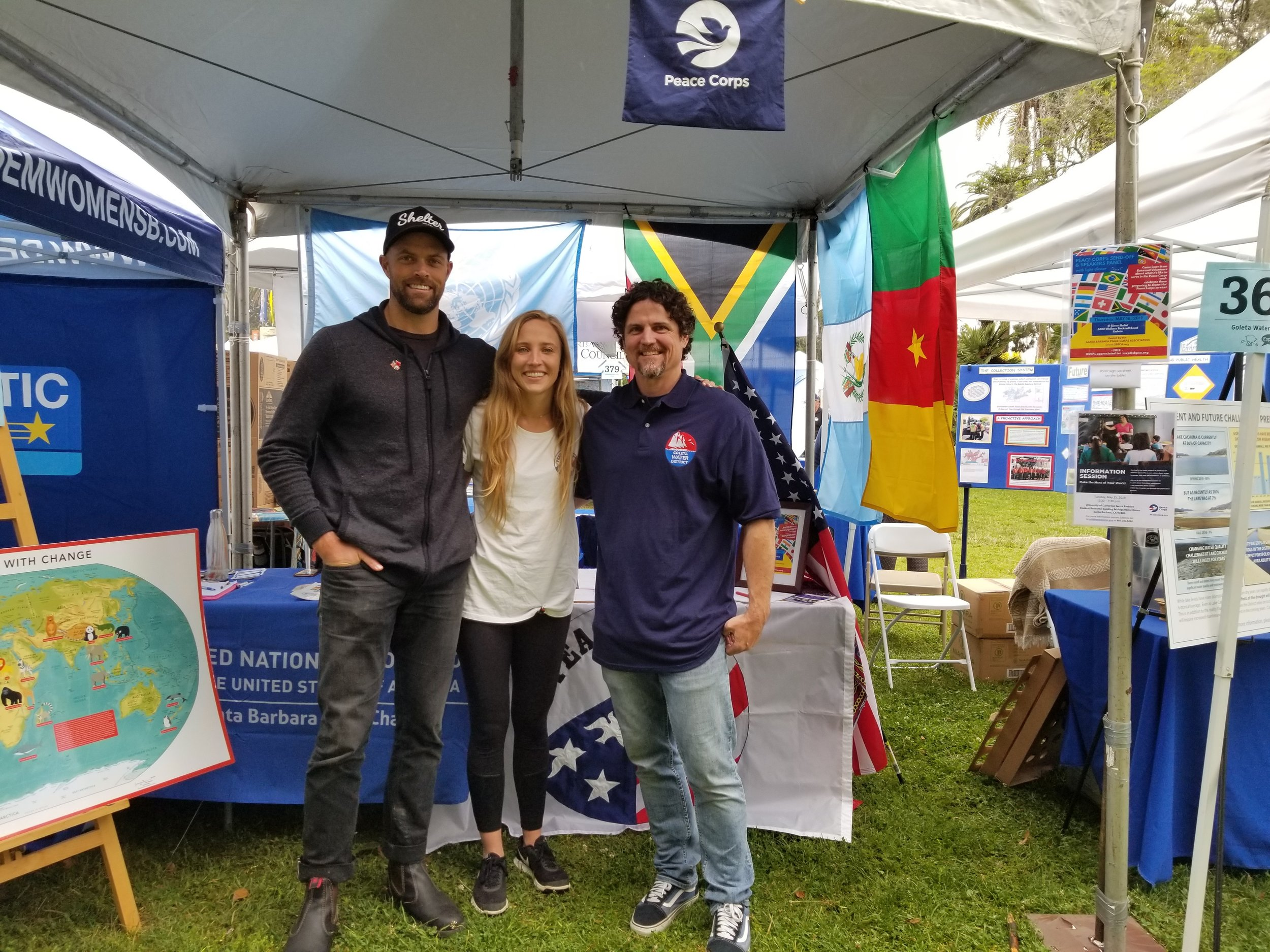 Peace Corps Booth @ Earth Day Festival - SATURDAY, APRIL 27, 2019and SUNDAY, APRIL 28, 201911:00am-6:00pm @ Alameda Park, Santa BarbaraSeveral local Returned Peace Corps Volunteers (RPCVs) came out and volunteered at our booth throughout the weekend, answering questions about the Peace Corps and Peace Corps Response, Sharing their Peace Corps experiences, encouraging interested individuals to consider applying, and letting people know about our Local Peace Corps Association.We had great foot traffic, a lot of interest, and we even connected with six local RPCVs who didn't already know about our group!