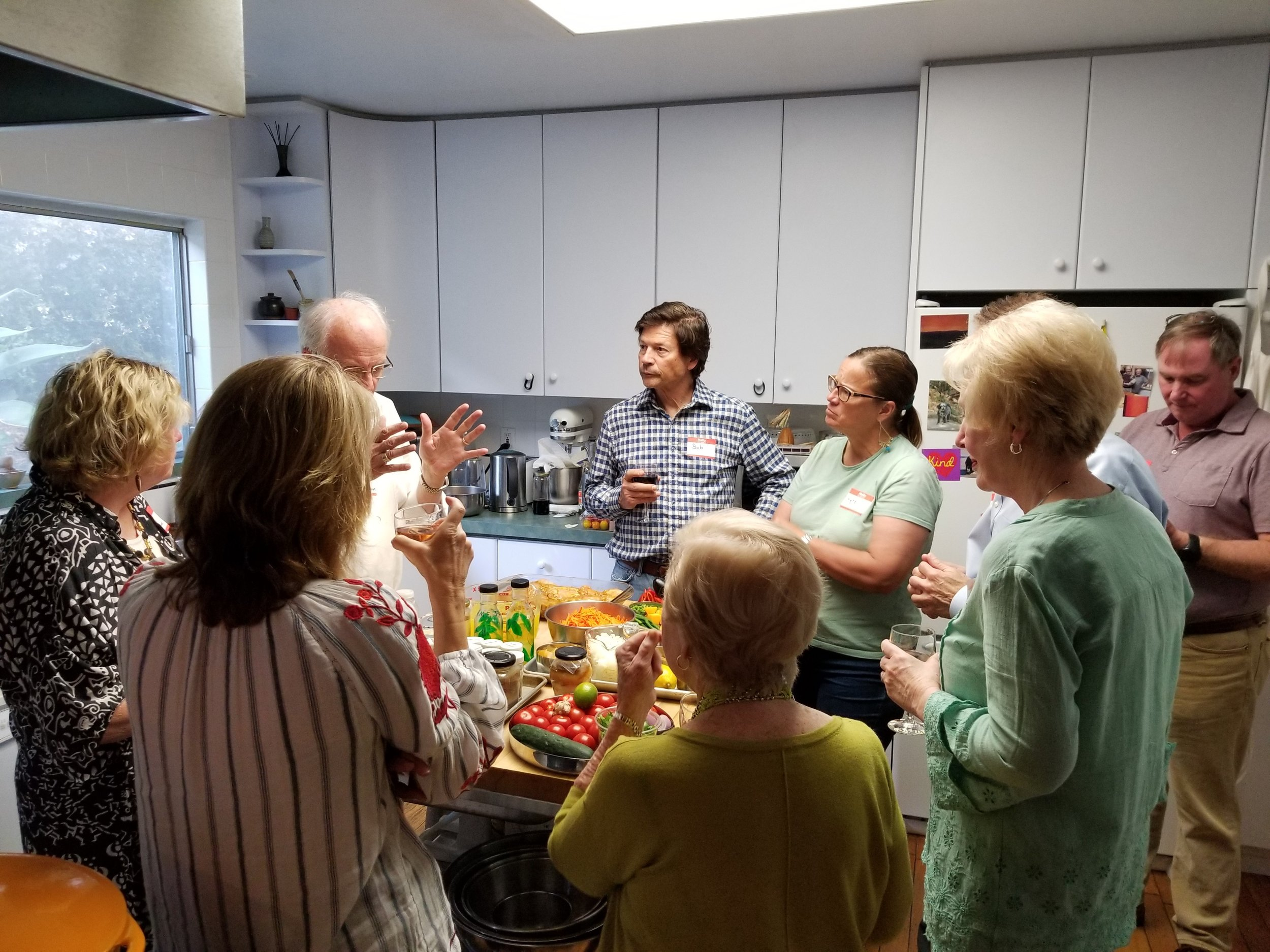 FUNDRAISER:Moroccan & Indian Cooking Class & Dinner - SATURDAY, JULY 20, 20196:00-10:00pm@ A private residence in Santa BarbaraSBPCA member Reid Melton (RPCV India) shared his culinary skills while teaching participants how to cook a number of wonderful Indian and Moroccan dishes, sharing interesting tidbits of information along the way. The evening culminated with an absolutely delicious sit-down group dinner.After expanding our cooking skills, tantalizing our taste buds over a great meal, socializing and making new friends, everyone went home with happy bellies, new insights into Indian and Moroccan cuisine, recipes to replicate what we learned to make, and little gifts.Our huge appreciation goes to hosts Reid and Peter, and to those who came out to support SBPCA in this incredibly delicious and fun way!All proceeds went to benefit Santa Barbara Peace Corps Association's mission and Mini Grants program!Click here to view the evening's menuClick here for a 2004 News-Press Food Section feature article on Reid Melton and his cooking