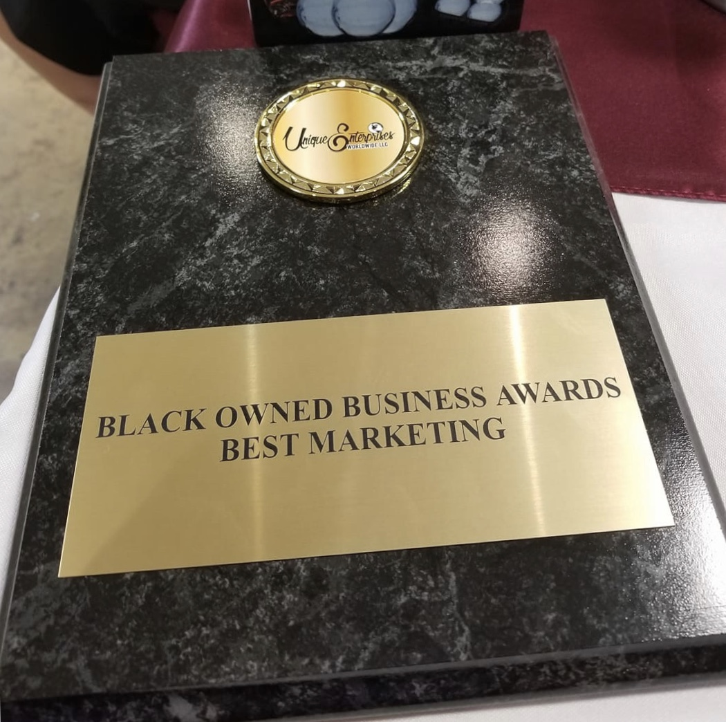 UNIQUE ENTERPRISE WORLDWIDE LLC BLACK OWNED BUSINESS AWARD    The 2nd Annual Black Owned Business Awards was the Gulf Coast crowning celebration for the most dynamic businesses and entrepreneurs. The Black Owned Business Awards serves as a time to recognize and honor the corporations & small businesses positively impacting the community and driving the growth and development of our business & advocating for the advancement of black and minority-owned businesses on the Gulf Coast.