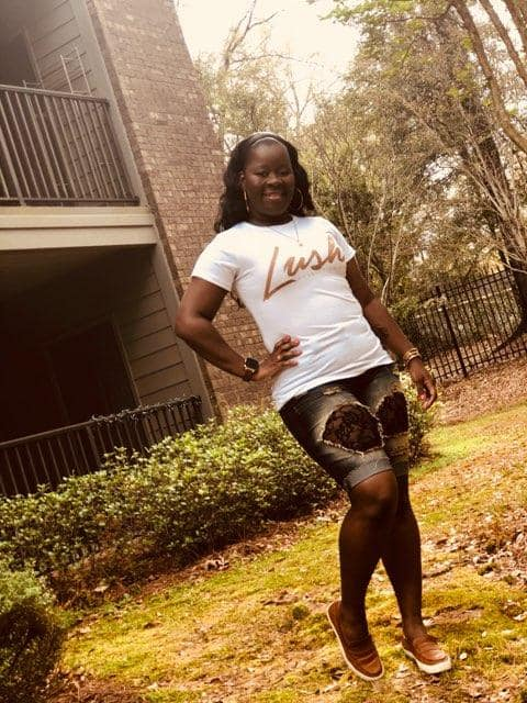 Lush Consulting Tee - Pictured: Supporter Keshia Pettway