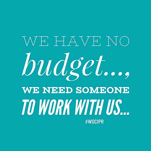 You have no budget but you need a publicist to work with you without charge since you're the next best thing. You need a budget for PR.....PERIOD‼️ We do not work off the trust that you just might blow up one day. In any case if it's  something you know you need at that point budget for it. • • • •  #LushConsultingFirm  #believeinyourself  #hustle  #BusinessWoman #BusinessTips  #InstaGood #BusinessMinded  #WomenEmpowerment  #Leadership #Inspiration  #Entrepreneurs  #Branding  #Culture  #BusinessLife  #PRTips  #Entertainment  #Music  #Business #Marketing  #Publicist  #Communications  #SocialMedia  #Lifestyle  #PR  #PublicRelations  #SmallBusiness  #Publicity  #PersonalBranding