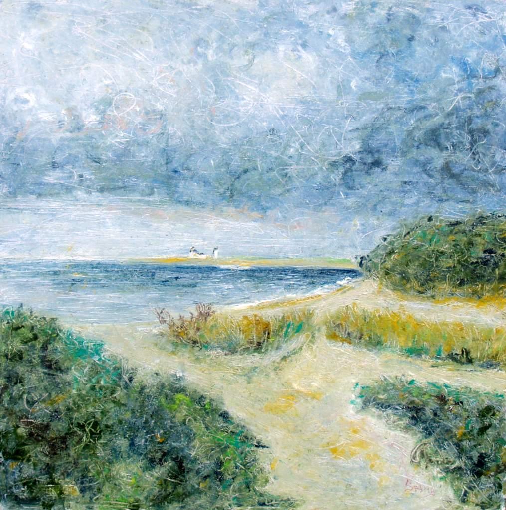 """'Race Point', 24""""x24: oil on canvas"""