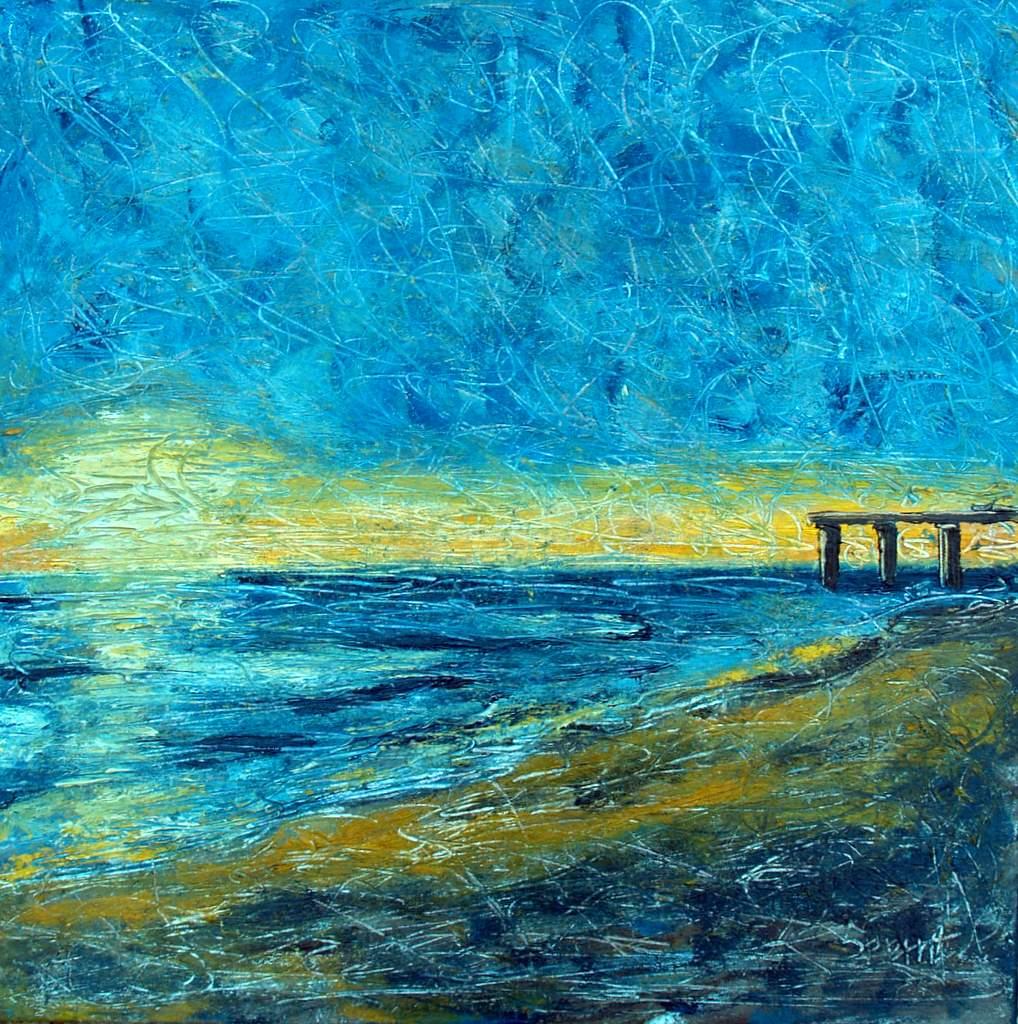 """'Morning Flicker', 24""""x24"""" oil on canvas"""
