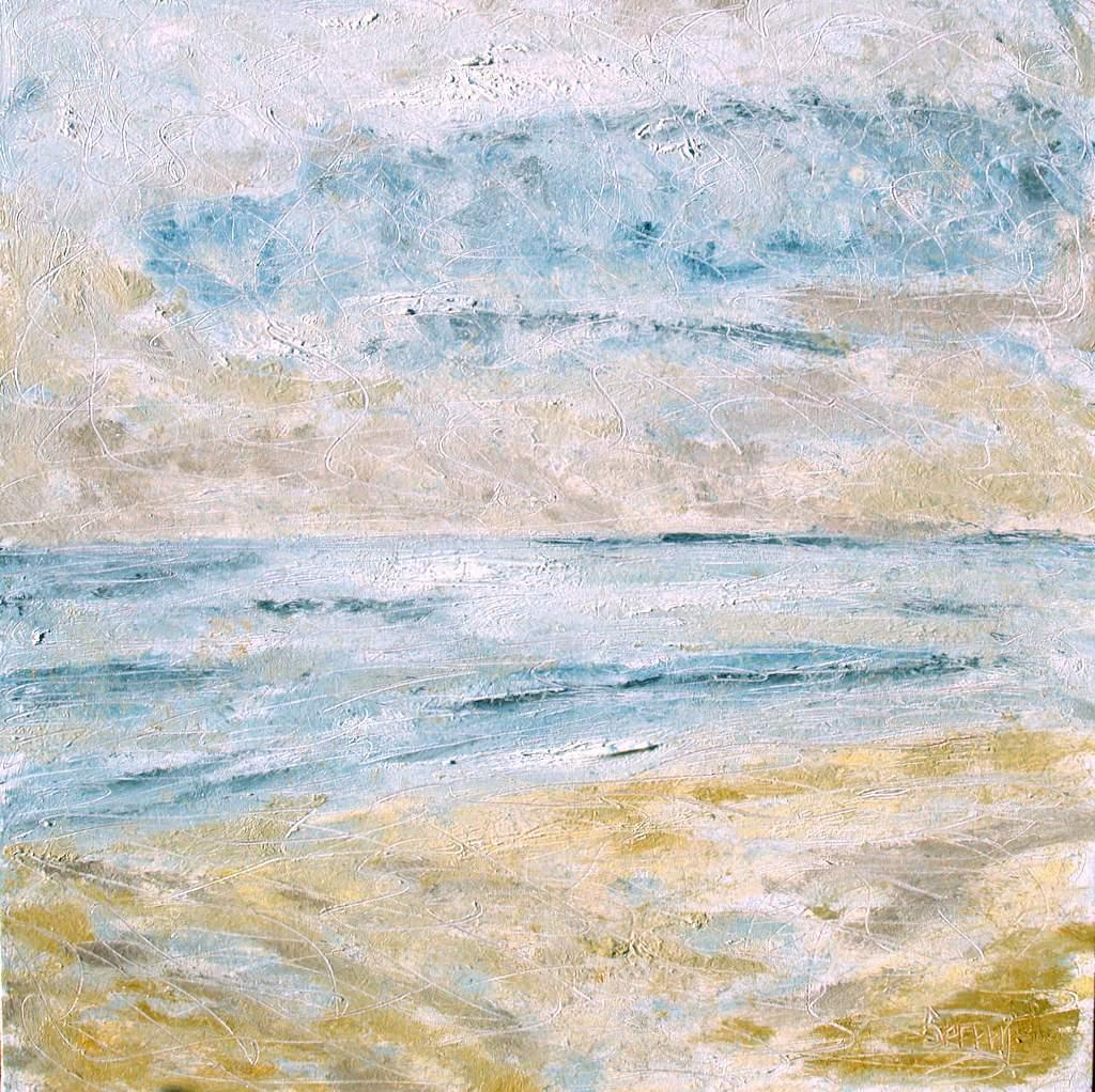 """'A Meditation', 36""""x36"""" oil on canvas"""