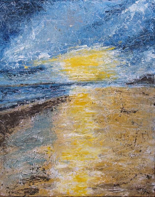"""Good Day Sunshine, 16""""x20"""", oil on board"""