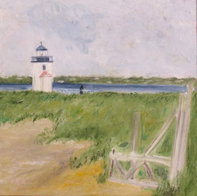 "'Island Light', 20""x20""  oil on canvas"