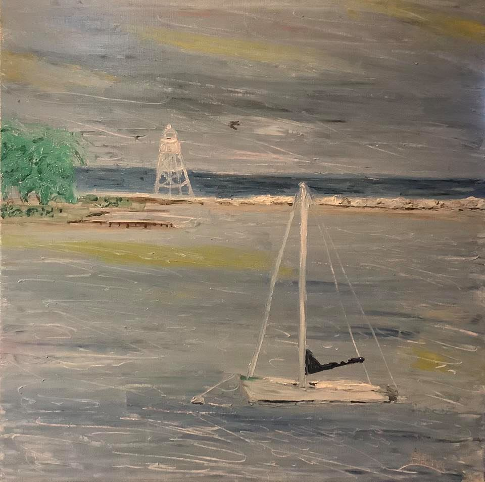 "'Calm Harbor' 18""x18"" oil"