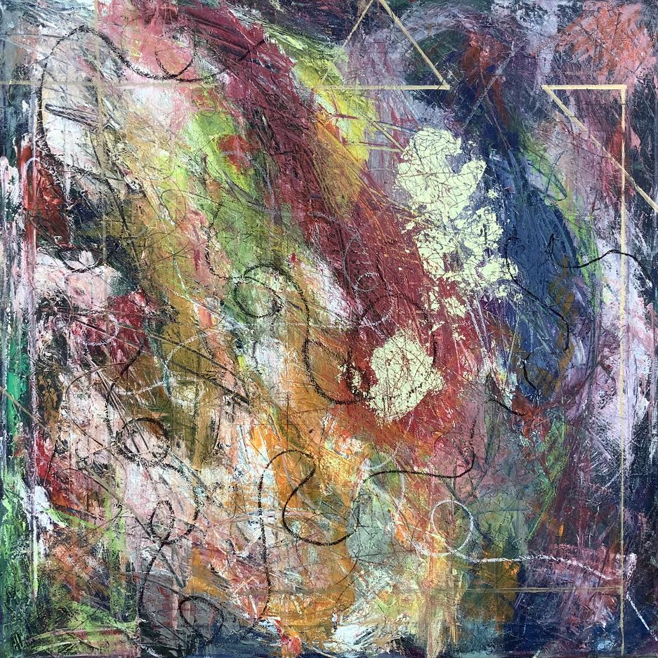 """Persistence of Time, 2""""x24"""" mixed media"""