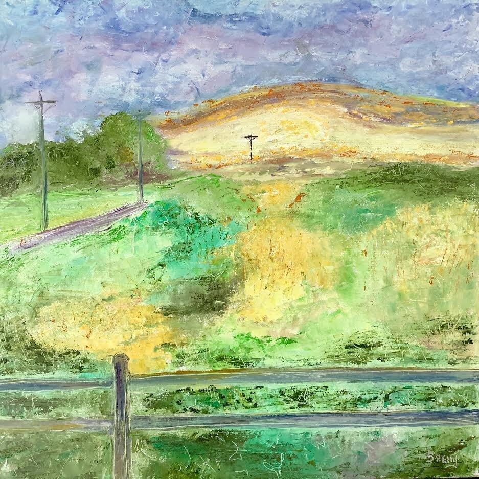 "Daybreak, 30""x30"" oil on canvas"