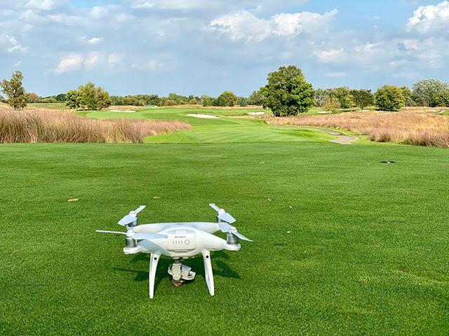 Course to ourselves. . . . . . . . . . #drone #uas #dji #phantom #p4p #phantom4 #mavicair #dronestagram #dronephotography #golfvideo #dronevideo #aerial #golf #flyover