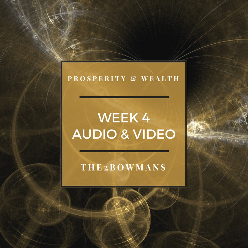 WEEK 4 -You have far more power to generate your life than you could ever imagine.