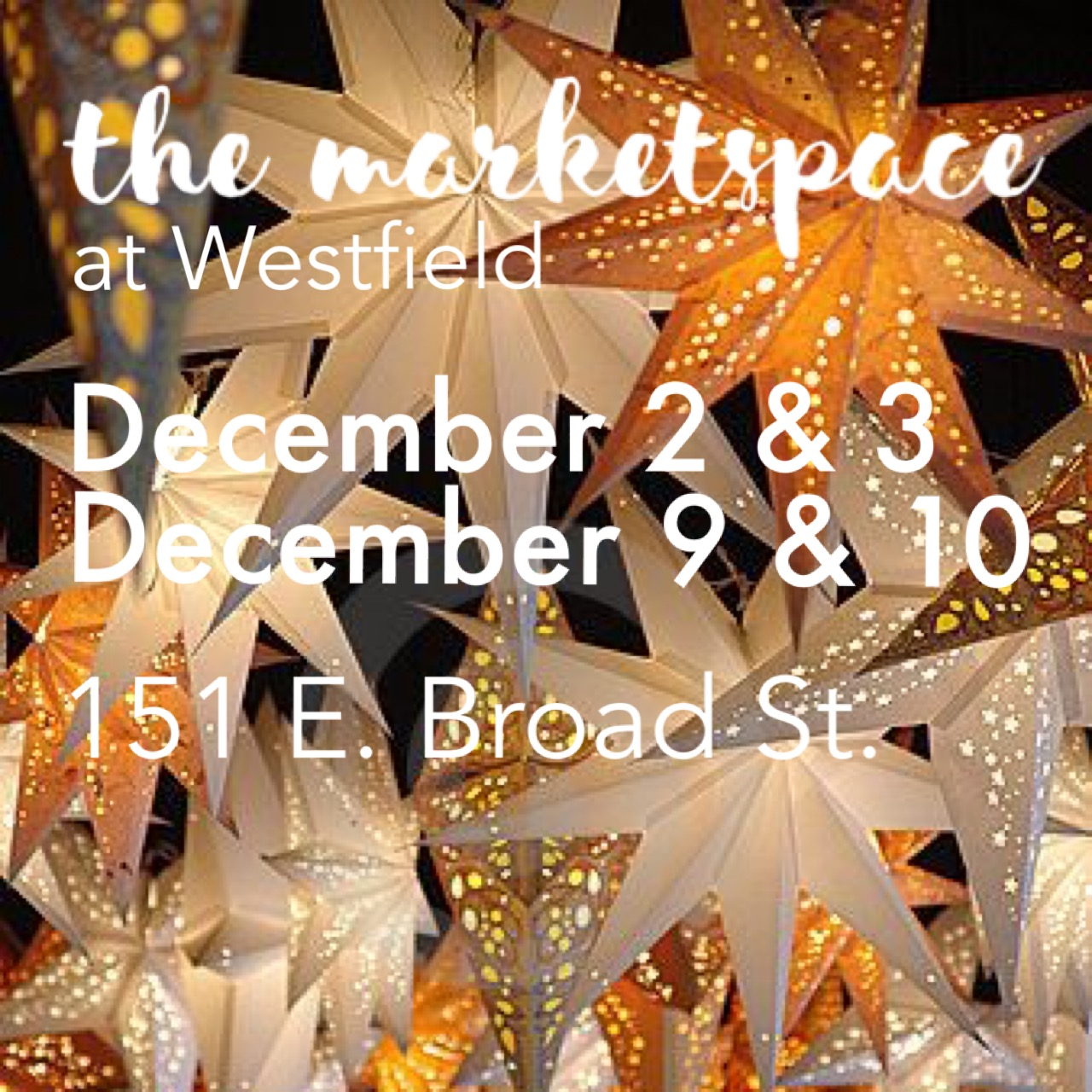 The Marketspace at Westfield, a Pop-Up Holiday Market, is Coming in December - Nov 1, 2017 Westfield, NJ -- Downtown Westfield has listed The Marketspace at Westfield event the News & Grand Openings section of their website.