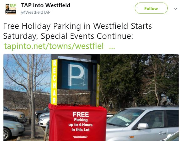 Tap Into Westfield Highlights The Marketspace at Westfield - Dec 15, 2017 Westfield, NJ -- The Marketspace at Westfield will be open for a third weekend at 151 East Broad St. The pop-up market, which features a variety of different vendors each day, was originally slated for just two weekends.