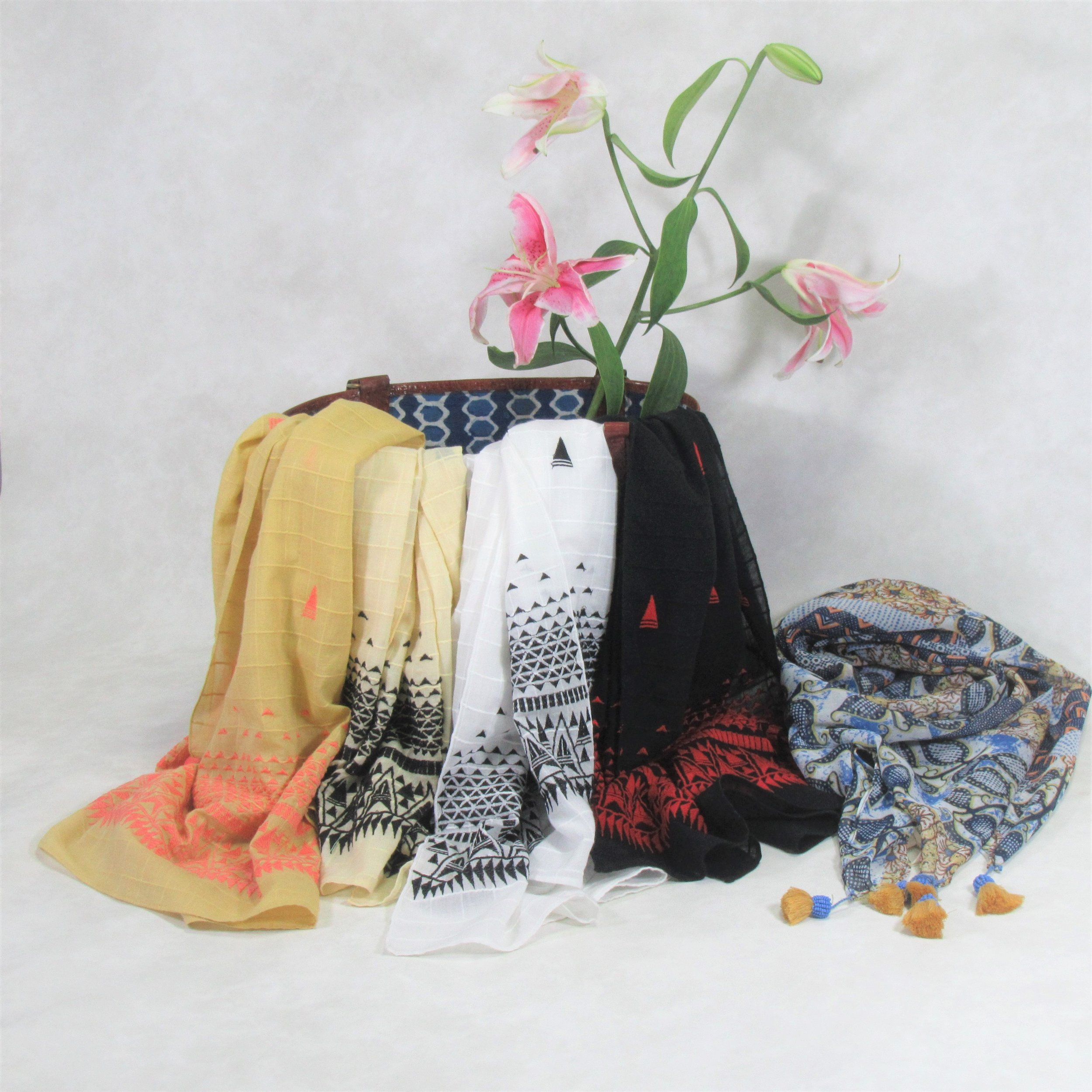 Hand embroidered scarves.jpg