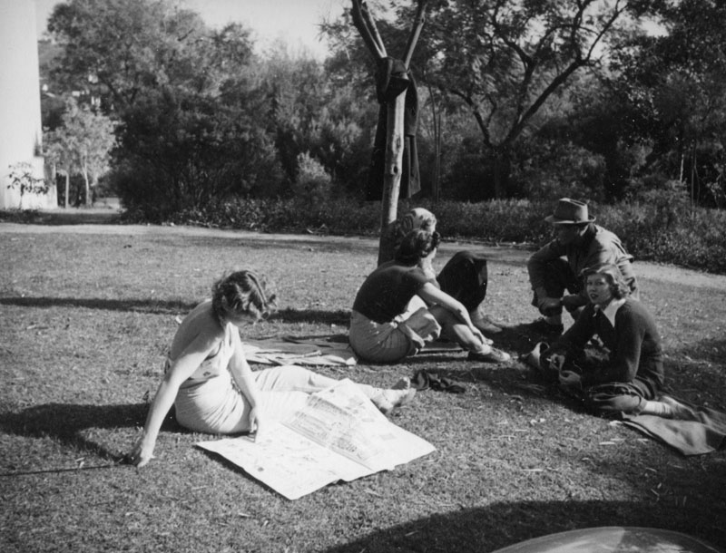 Barnsdall Park  Photo by Herman J. Schultheis via Los Angeles Public Library (1937)