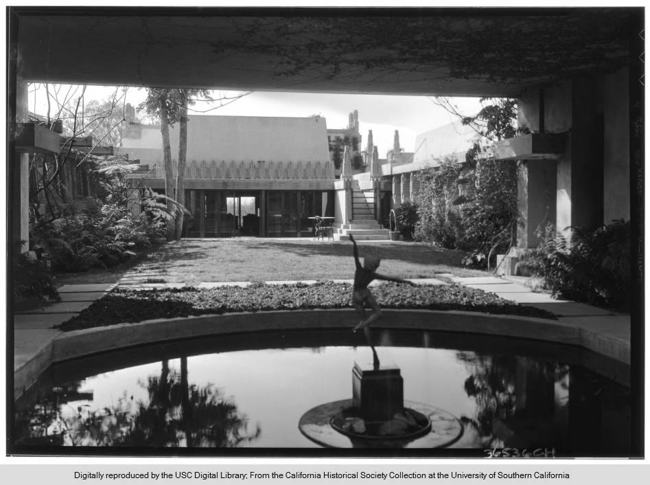 Hollyhock House Interior Garden