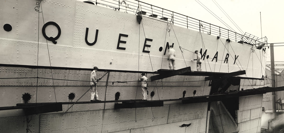 The Queen Mary  Photo via  www.queenmary.com