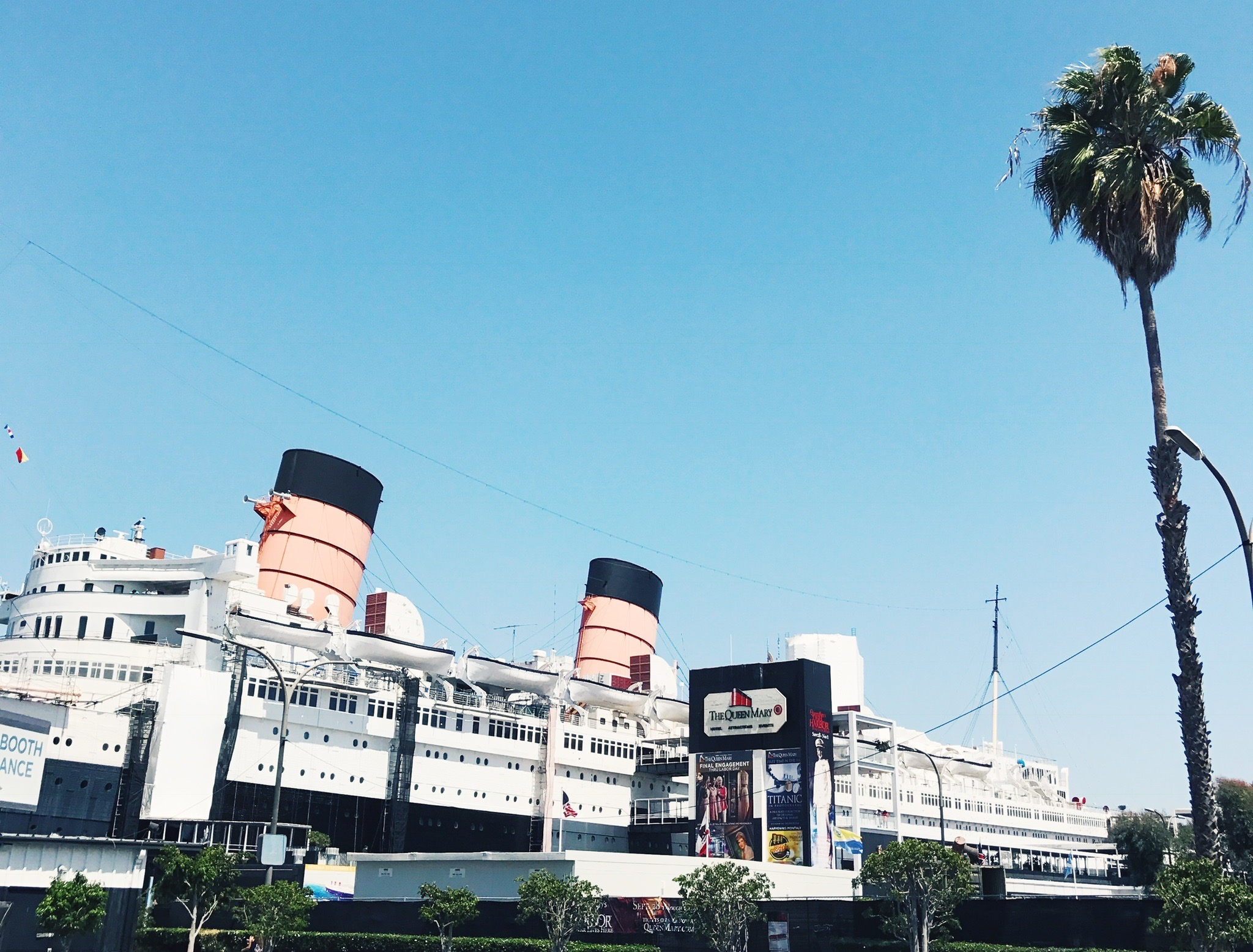 Exterior of the Queen Mary