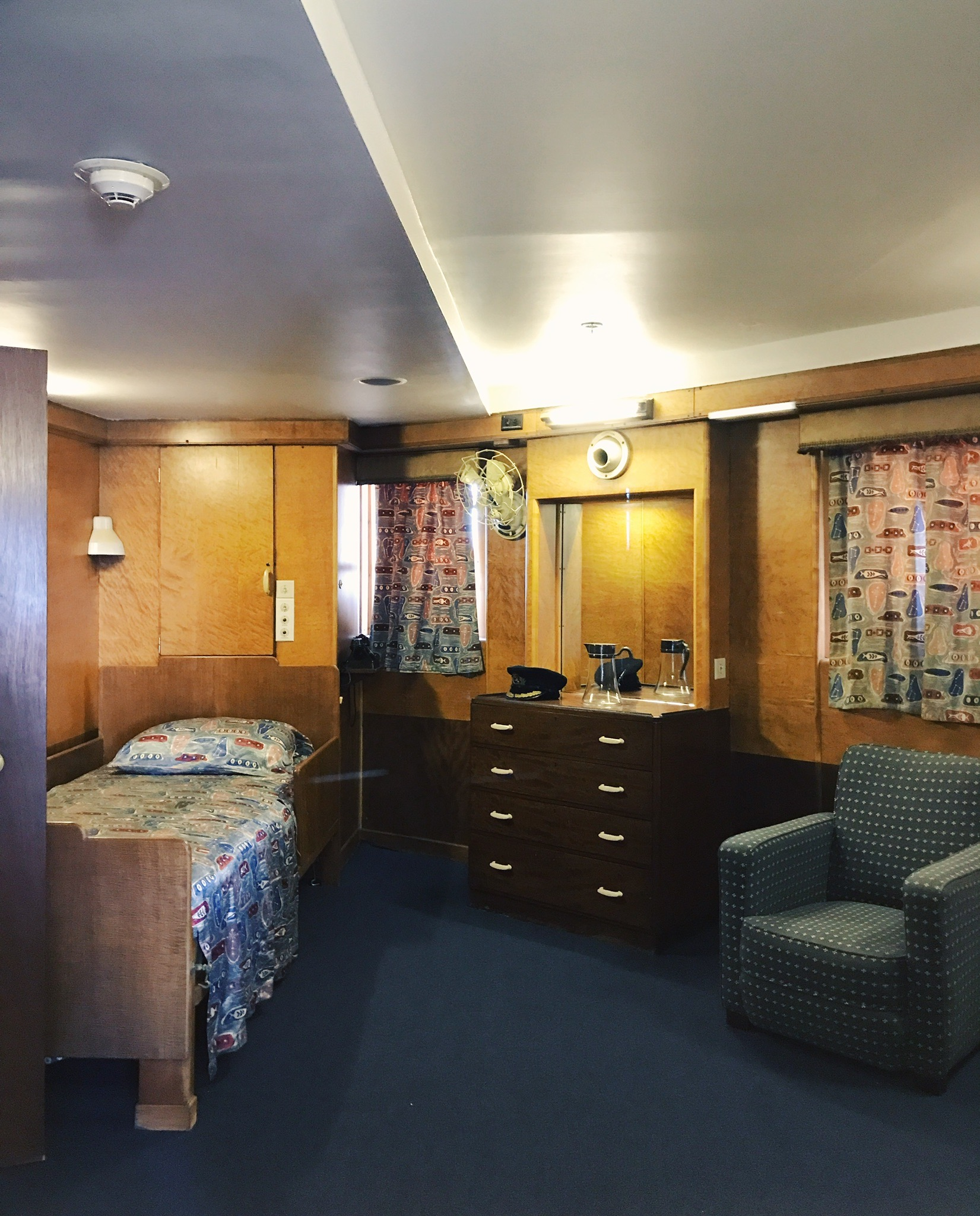 Cabin room of the Queen Mary