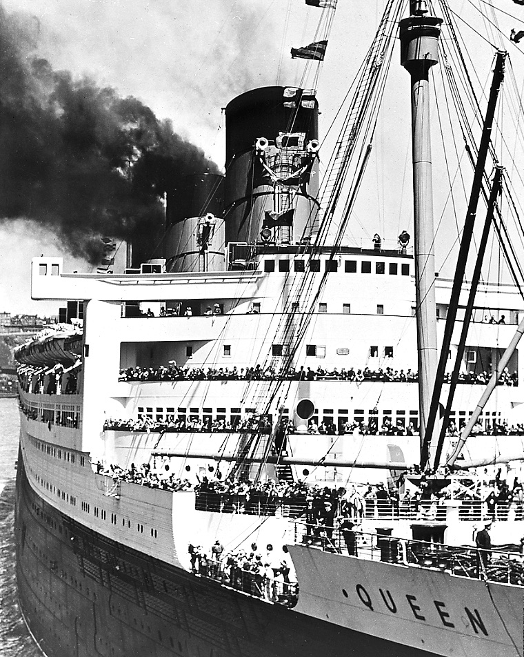 The Queen Mary  Photo via New York State Archives (1936)