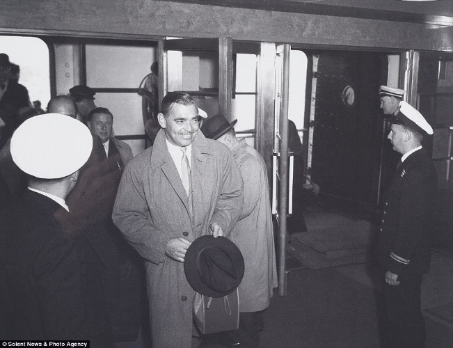 Clark Gable aboard the Queen Mary  Photo via Solent News & Photo Agency