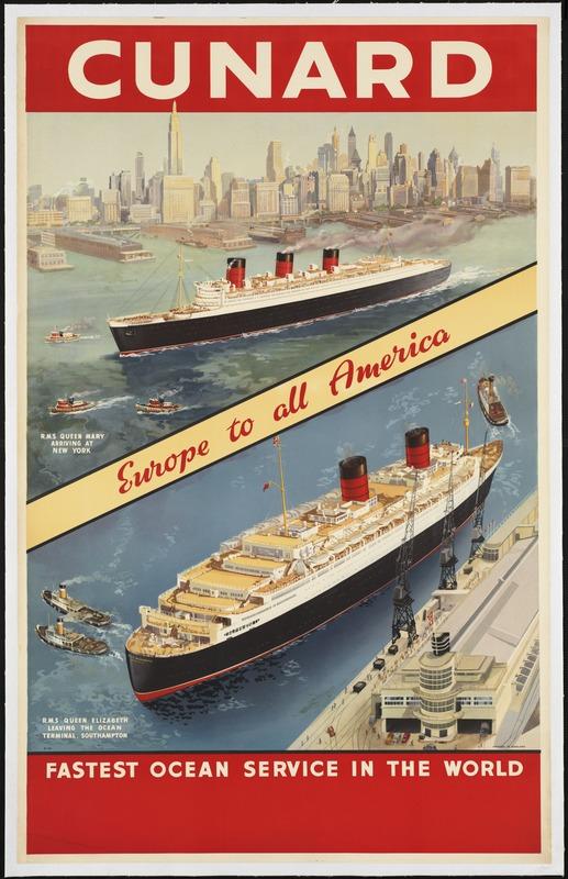 Cunard Lines Travel Poster