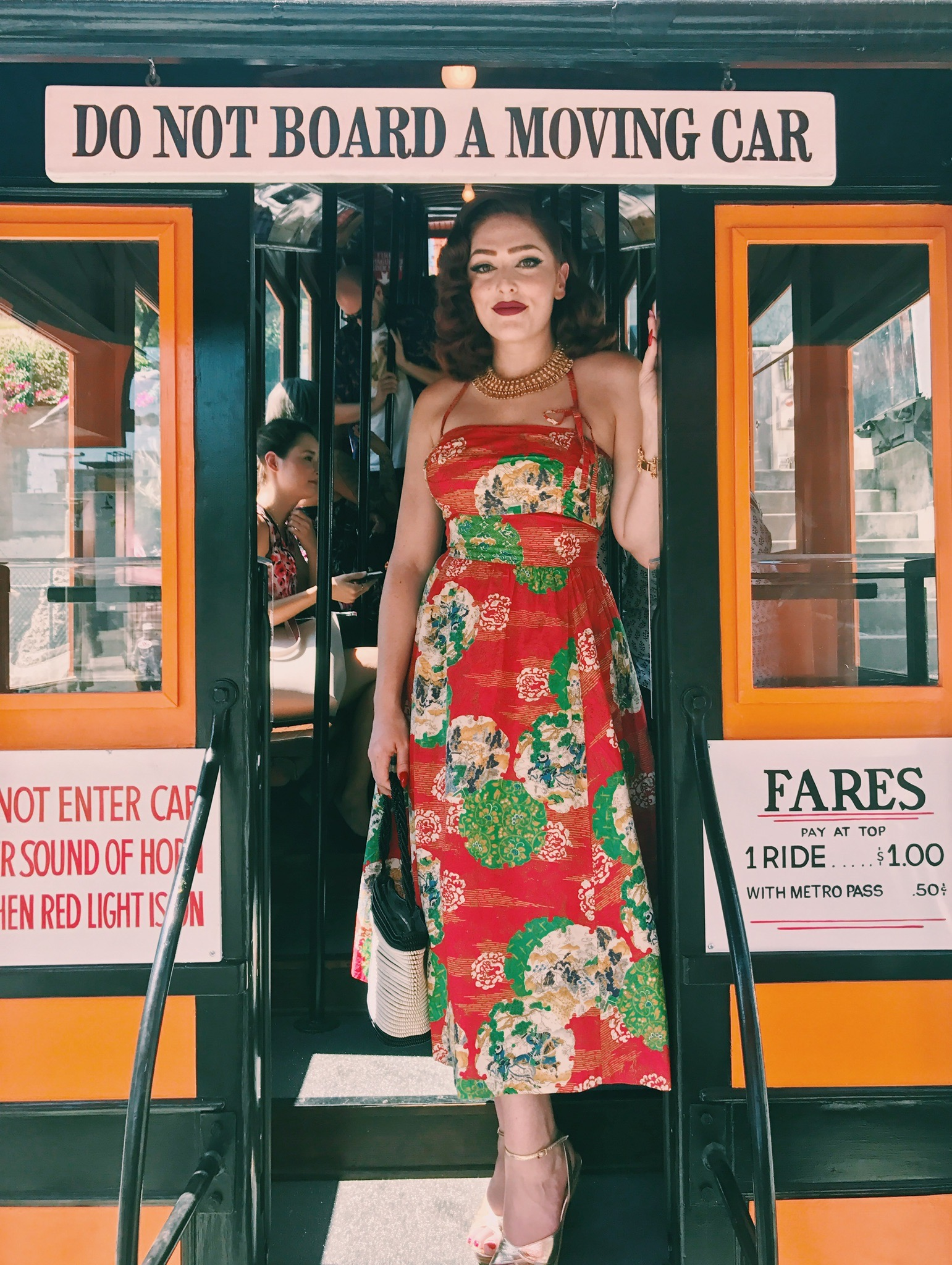Aboard the Angels Flight  Photo via  Finding Lost Angeles  (2017)