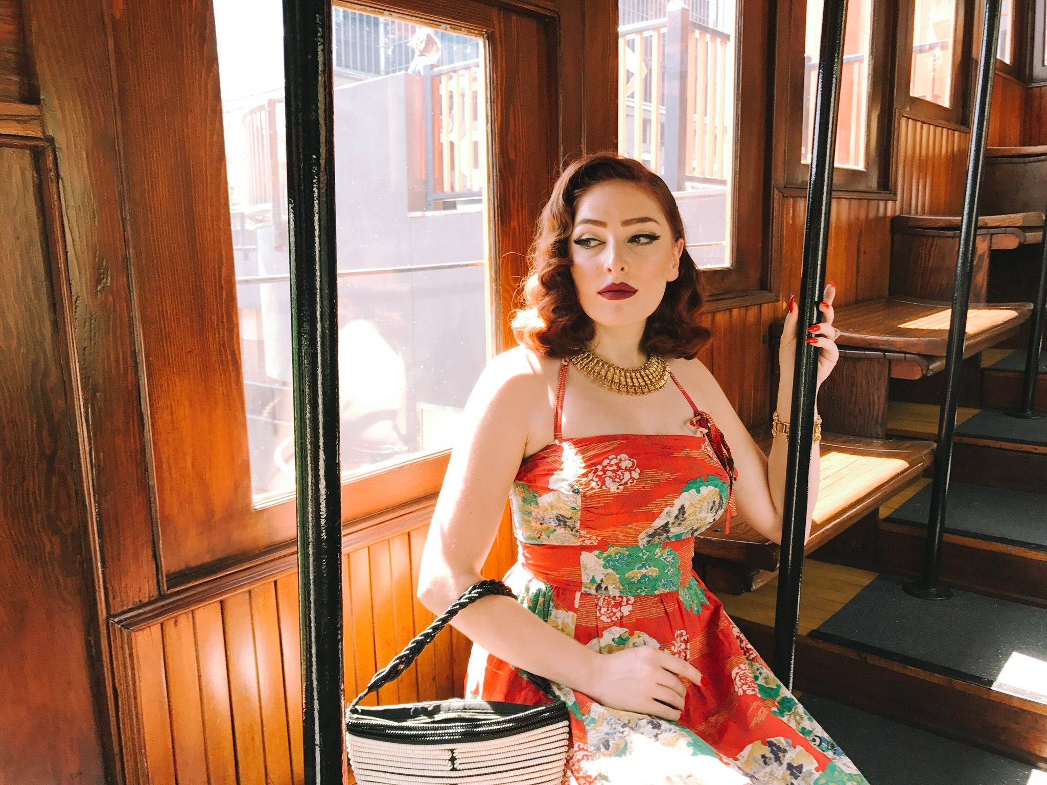 Aboard the Angels Flight railway  Photo via  Finding Lost Angeles  (2017)