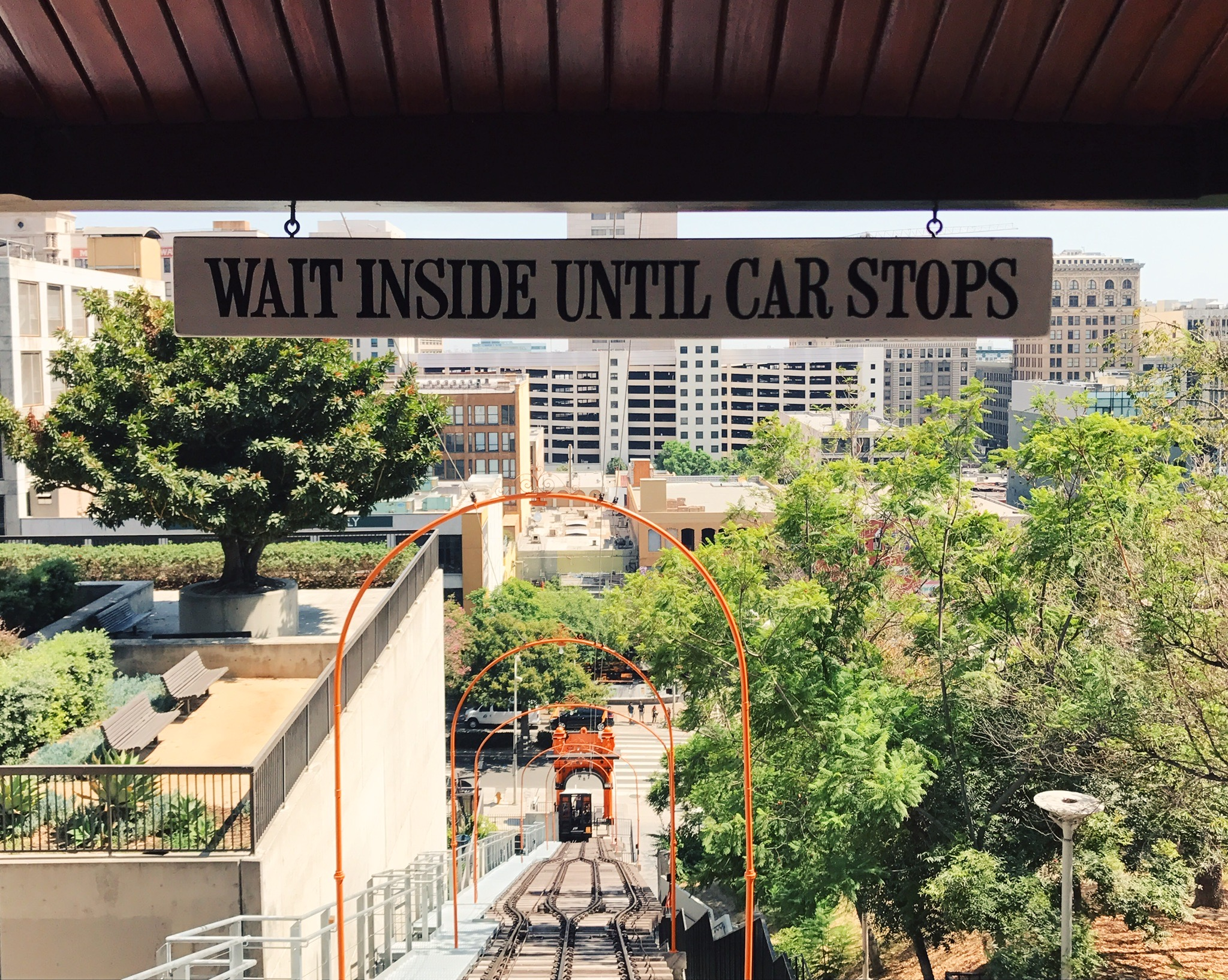 Angels Flight view from the top