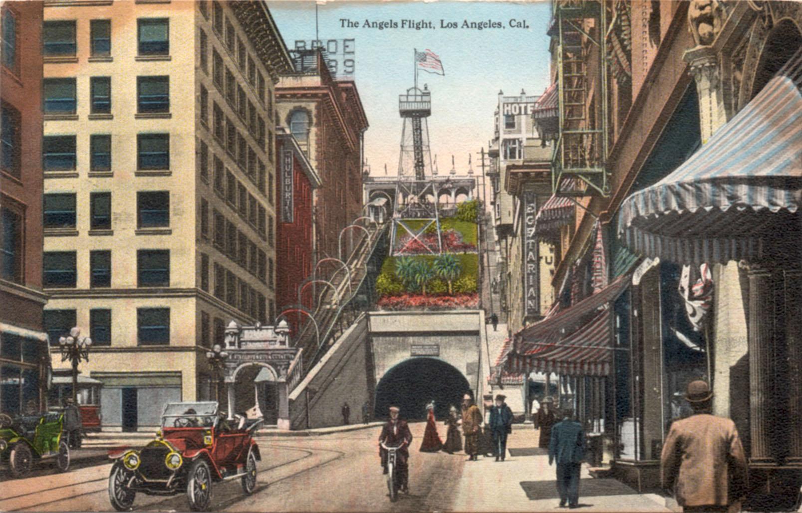 Angels Flight postcard c. early-1900s