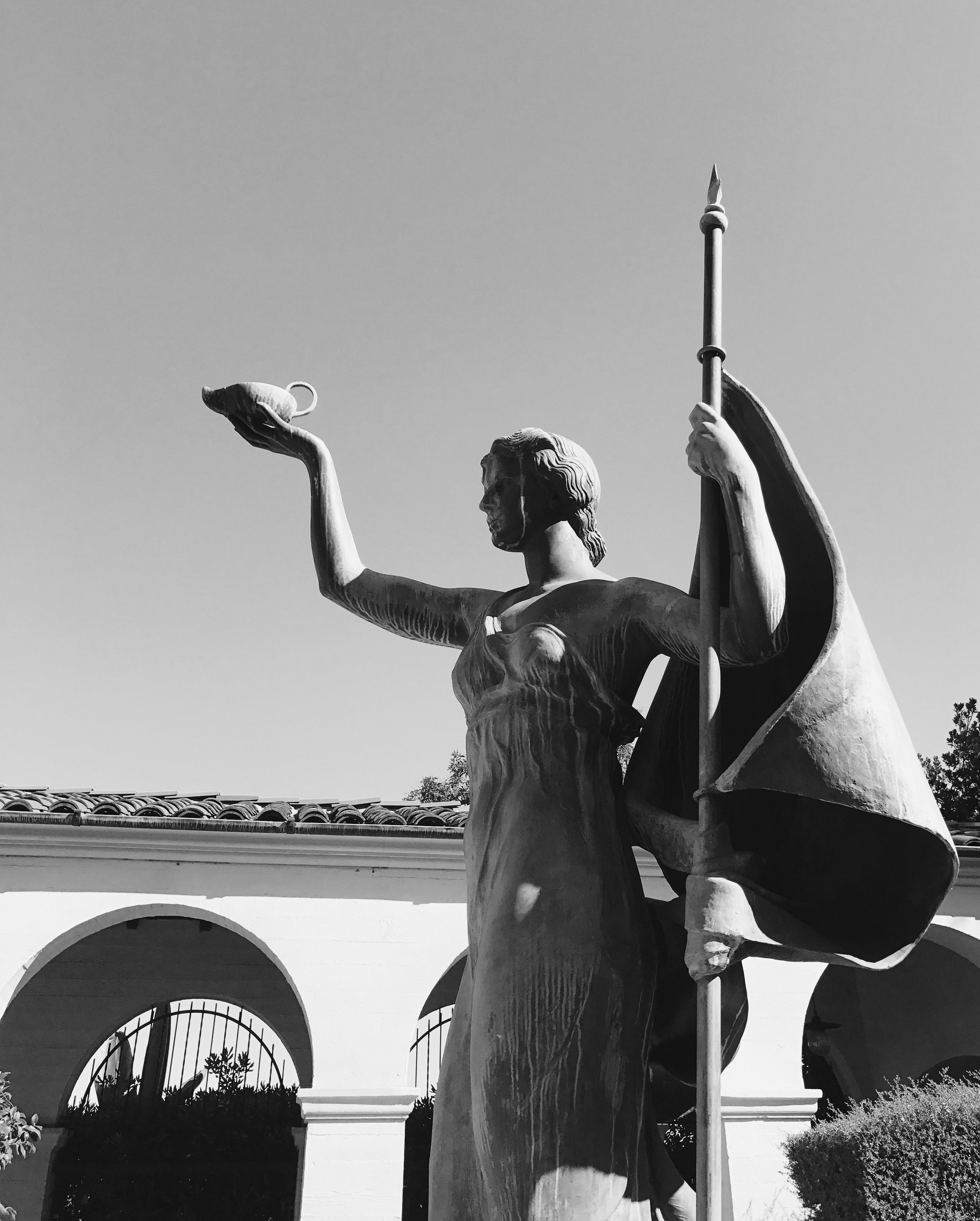 Courtyard Statute at the Ebell Clubhouse
