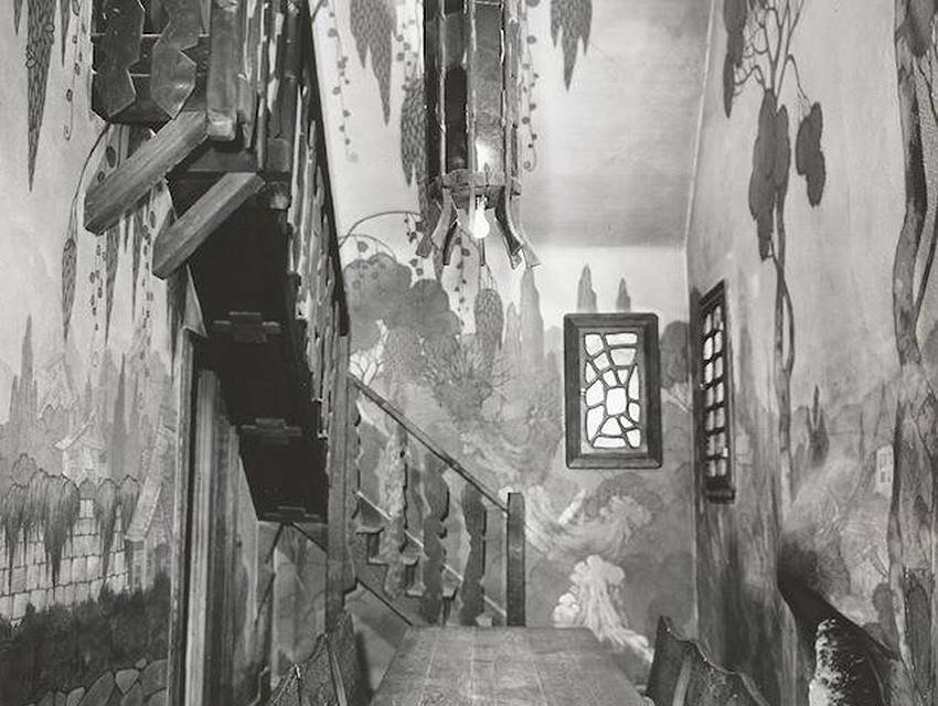 The Witch's House Interior - Staircase  Photo via Beverly Hills Heritage (1933)