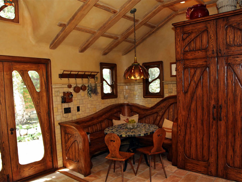 The Witch's House Interior - Breakfast Nook  Photo via  Los Angeles Magazine  (2014)
