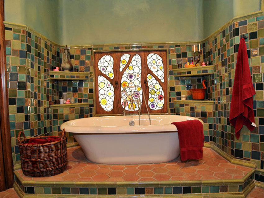 The Witch's House Interior - Bathroom  Photo via  Los Angeles Magazine  (2014)