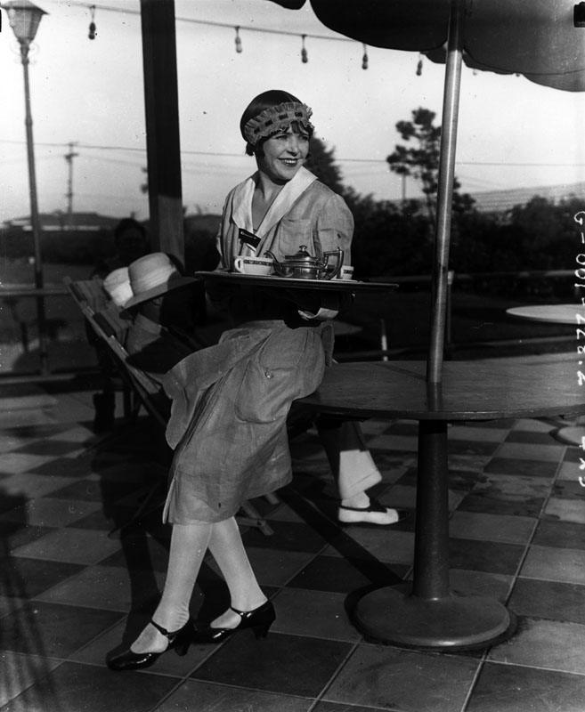 Waitress at the Ambassador Hotel.  Photo via California Digital Library (1923)