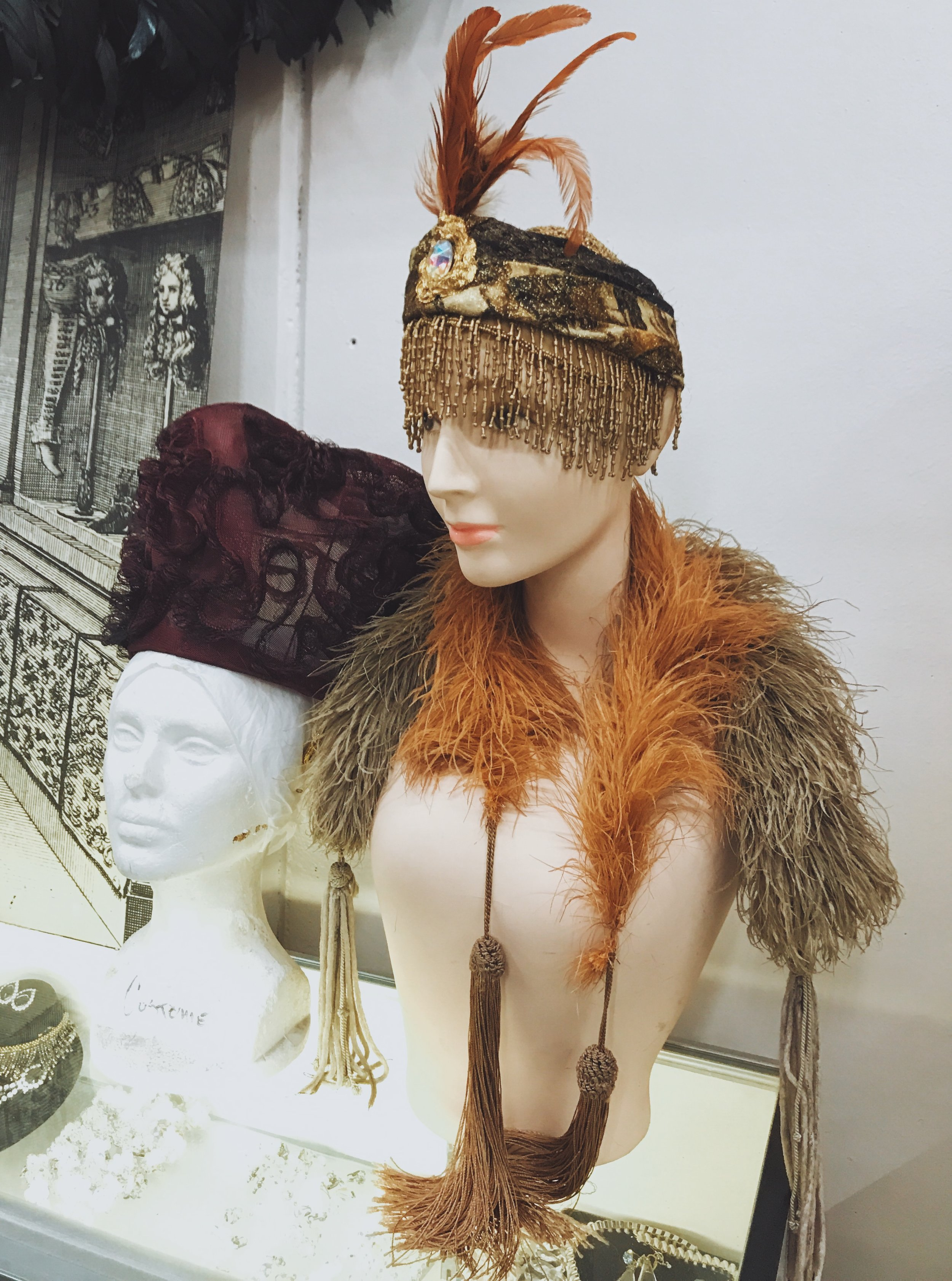 Headdress and other accessories at Western Costume Company.  Photo via  Finding Lost Angeles  (2018)