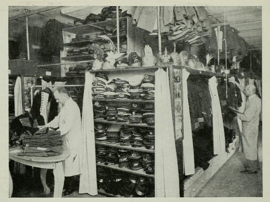 The military and uniform collection has been a specialty of Western Costume nearly since its inception.  Photo via  Photoplay (Feb. 1928)