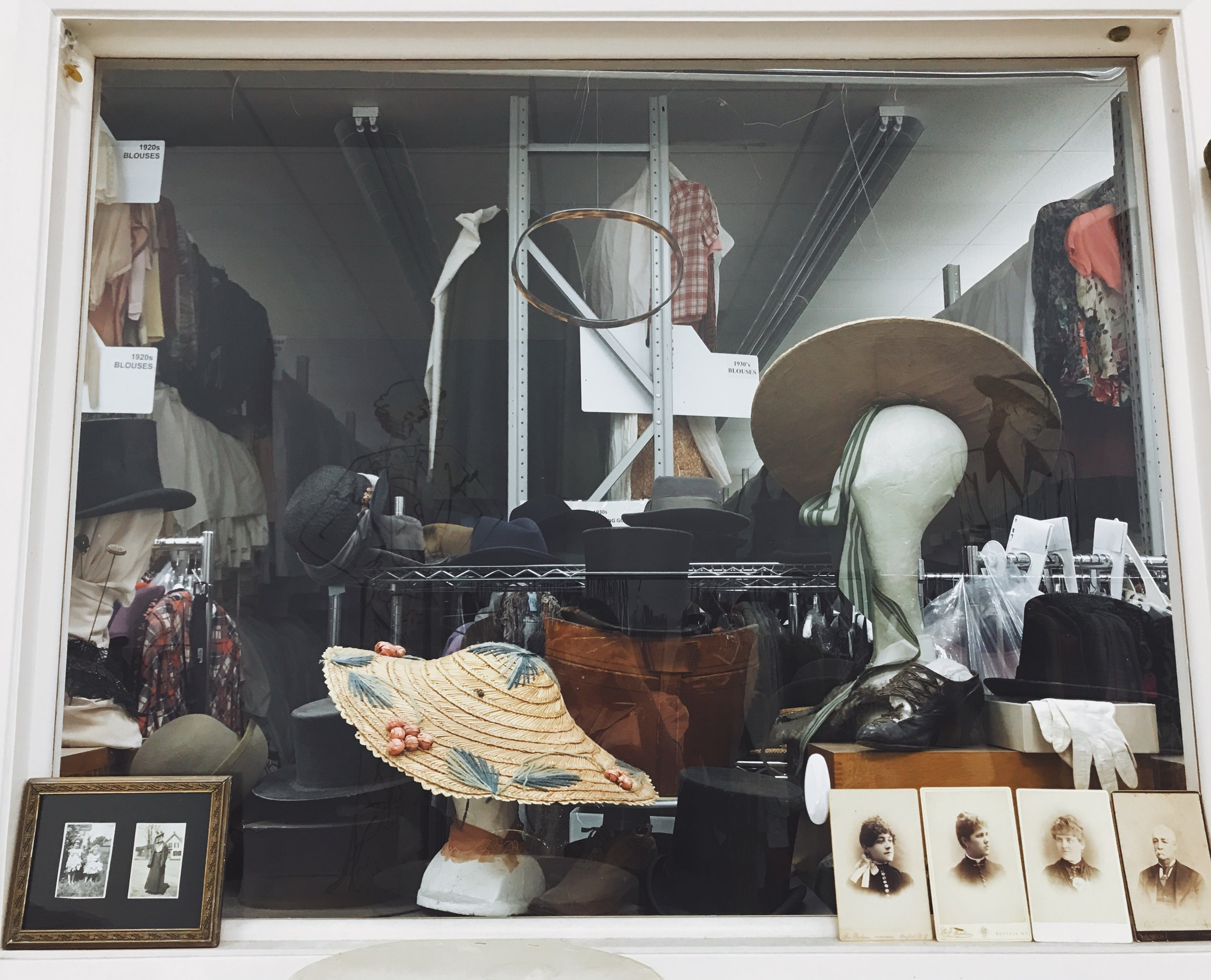 "Hats and other accessories among ""The Collection"" at Western Costume Company.  Photo via  Finding Lost Angeles  (2018)."