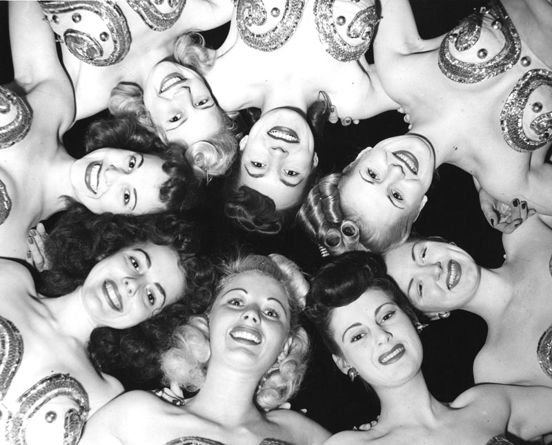 "Some of Earl Carroll's ""Sixty Most Beautiful Girls in the World"". Photo by Gene Lester via Los Angeles Public Library (October 12 1949)."