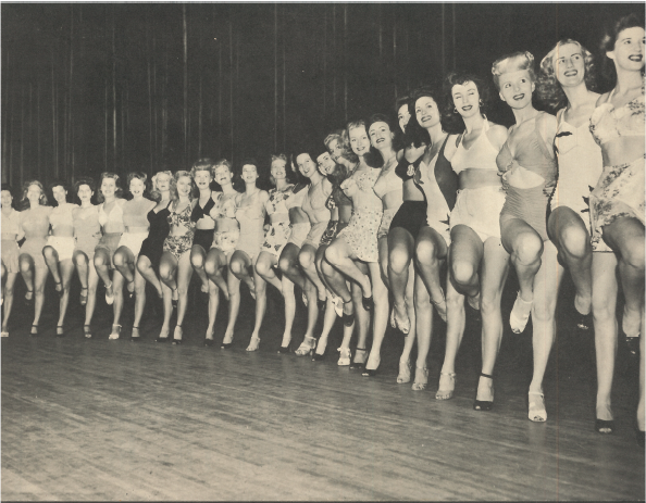 Chorus girls from a 1944 Earl Carroll  Vanities  program. Photo via  Finding Lost Angeles  (2018).